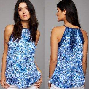 A Pea in the Pod Maternity Blue Lace Tank Top